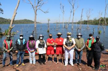 Colíder: oficiais da marinha visitam local onde será instalada a marina do rio Teles Pires