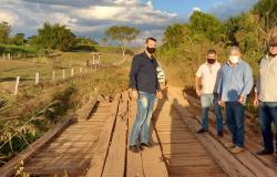 Alta Floresta: Vereadores, prefeito e secretário de infraestrutura vistoriam pontes na Segunda Sul