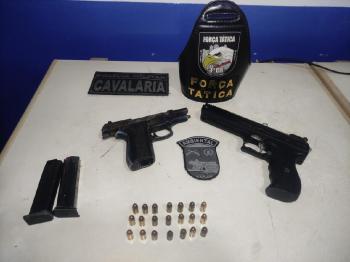 Batalhão Ambiental encontra pistolas durante abordagem em Aripuanã