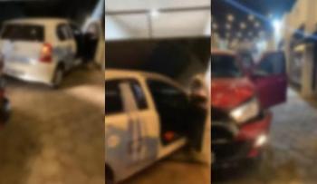 """Esposa flagra gerente de empresa com garota de programa em VG, bate carro e filma """"barraco"""""""