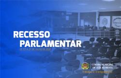 Recesso parlamentar será de 7 a 27 de julho na Câmara Municipal