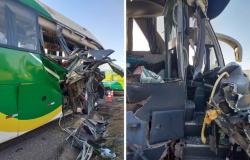 BR - 163: Ônibus com 23 passageiros bate em carreta; 7 ficam feridos
