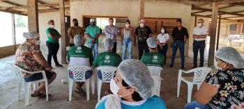 PARANAITA: Prefeito Osmar e equipe acompanha finalização de cursos do SENAR no Assentamento São Pedro