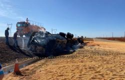 Motorista morre carbonizado em grave acidente na BR-163