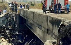Motorista de bitrem morreu carbonizado em acidente na MT-206