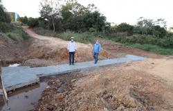 Presidente da Câmara e Prefeito de Alta Floresta vistoriam obras