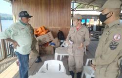 Força de segurança de AF levantam recurso para ajudar comerciante-ribeirinho que teve sua casa/restaurante incendiada