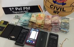 Policiais desarticulam quadrilha e recuperam R$ 19 mil roubados de Casa Lotérica em Lucas do Rio Verde