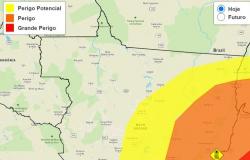 Inmet emite alerta de perigo por causa da baixa umidade em 42 cidades de MT