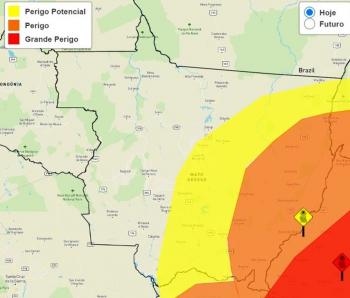 Alerta laranja em 42 cidades de MT — Foto: INMET