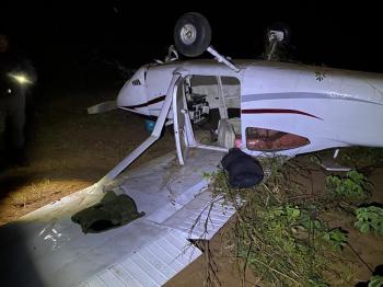 Avião cai com droga - Foto por: Assessoria