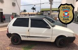 Veículo roubado em Guarantã do Norte é recuperado pela Polícia Civil em Sinop