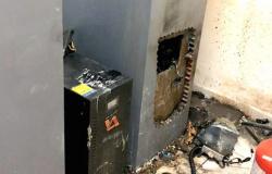 Câmera flagra furto em caixa eletrônico de agência bancária em Nova Bandeirantes