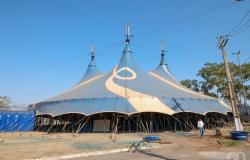 Acidente em Globo da Morte para espetáculo de circo em Cuiabá