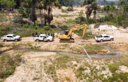 Batalhão de Proteção Ambiental desativa 14 garimpos ilegais em Apiacás, Guarantã e outras cidades de MT