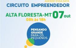 Circuito Empreendedor de Alta Floresta acontece nesta quinta (07), inscrições estão abertas