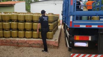 Ação conjunta apreende 688 botijões de gás, interdita 3 revendas e prende 1 pessoa em Mato Grosso