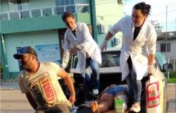 Nova Bandeirantes: Motorista de caminhonete bate em moto e foge do local