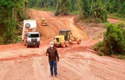 Alta Floresta: Vereador Naldo acompanha recuperação de estradas vicinais na Pista do Cabeça