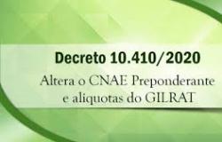 ESOCIAL - DECRETO ALTERA TABELA DE CNAES PREPONDERANTES