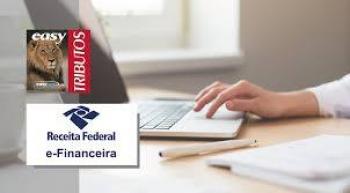 E-FINANCEIRA: PRAZO DE APRESENTAÇÃO DO 1º SEMESTRE É PRORROGADO