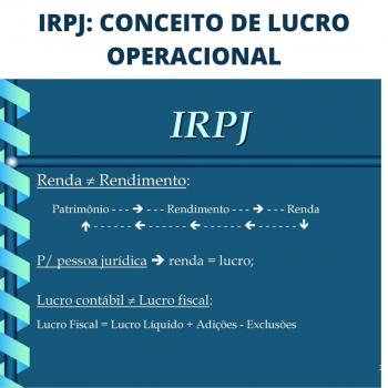 IRPJ: CONCEITO DE LUCRO OPERACIONAL