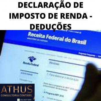 DECLARAÇÃO DE IMPOSTO DE RENDA - DEDUÇÕES